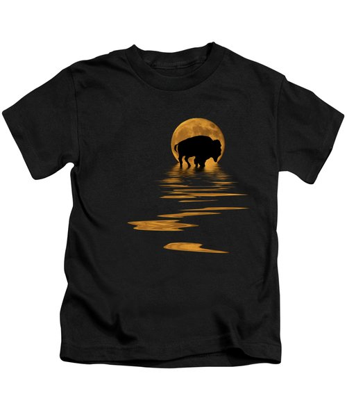 Buffalo In The Moonlight Kids T-Shirt
