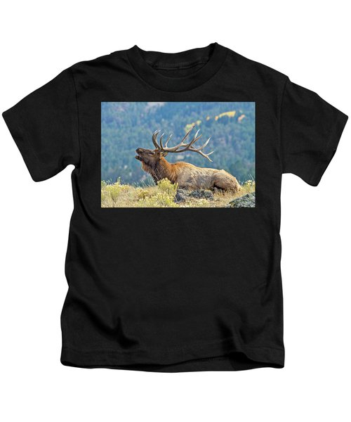 Bull Elk Bugling Kids T-Shirt