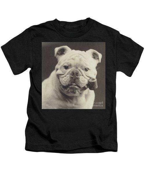 Bulldog Smoking A Pipe Kids T-Shirt