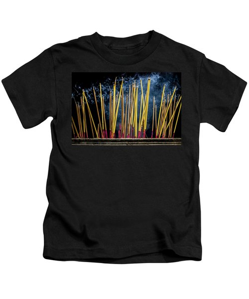 Burning Joss Sticks Kids T-Shirt