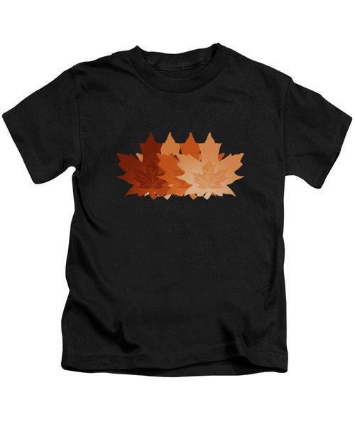 Burnt Sienna Autumn Leaves Kids T-Shirt