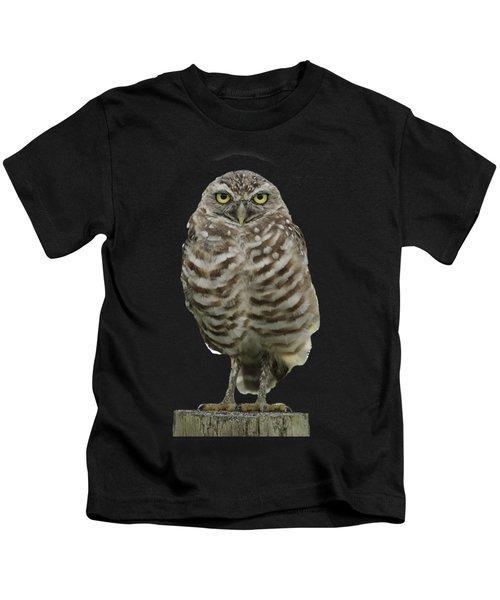 Burrowing Owl Lookout Kids T-Shirt