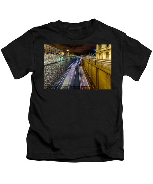 Busy Night In Barcelona Kids T-Shirt