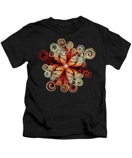 Butterfly And Bubbles Kids T-Shirt