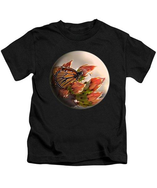 Butterfly In A Globe Kids T-Shirt