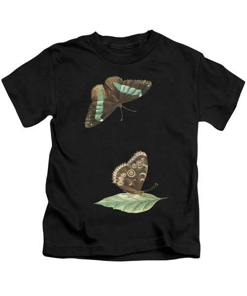 Butterfly Seen From Below And From Above By Cornelis Markee1763 Kids T-Shirt