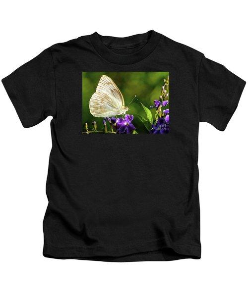 Butterfly Tea Time Kids T-Shirt