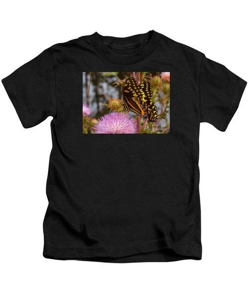 Butterfly Visit Kids T-Shirt