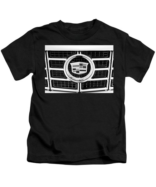 Cadillac Emblem Front Bw Kids T-Shirt