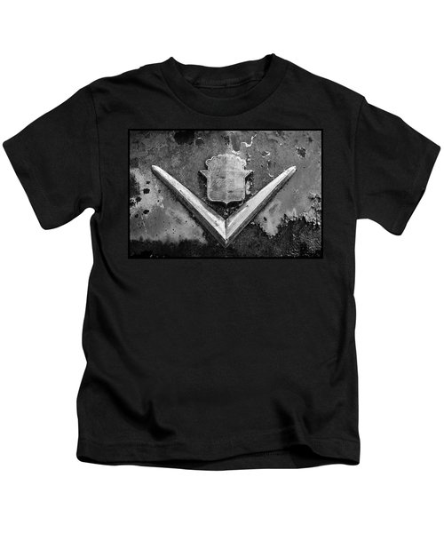 Cadillac Emblem On Rusted Hood Kids T-Shirt