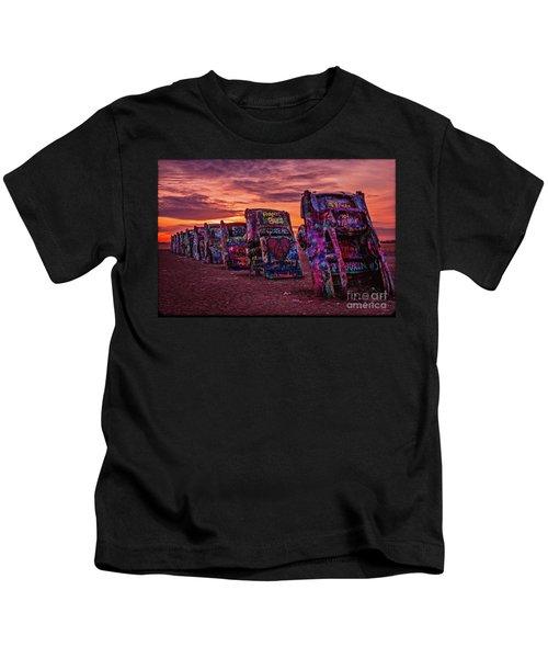 Cadillac Ranch At Sunrise  Kids T-Shirt