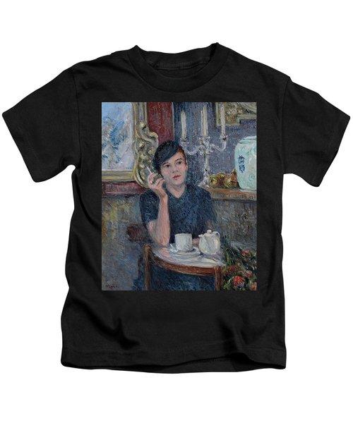 Cafe De Paris  Kids T-Shirt