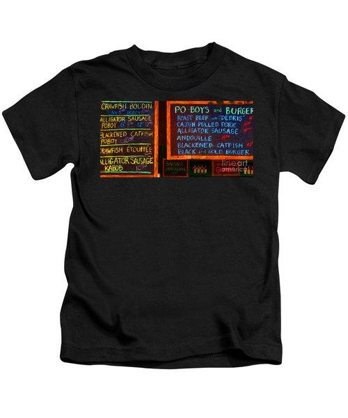 Cajun Menu Alligator Sausage Poboy - 20130119 Kids T-Shirt