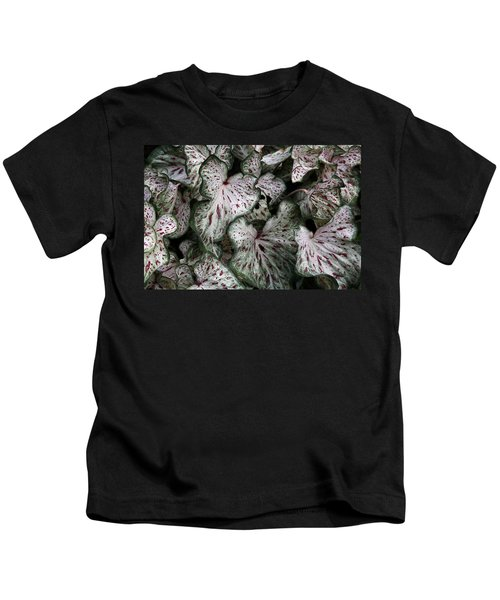 Caladium Leaves Kids T-Shirt