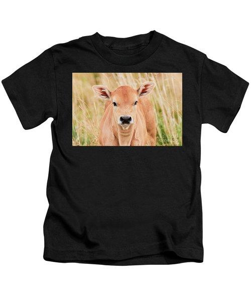 Calf In The High Grass Kids T-Shirt