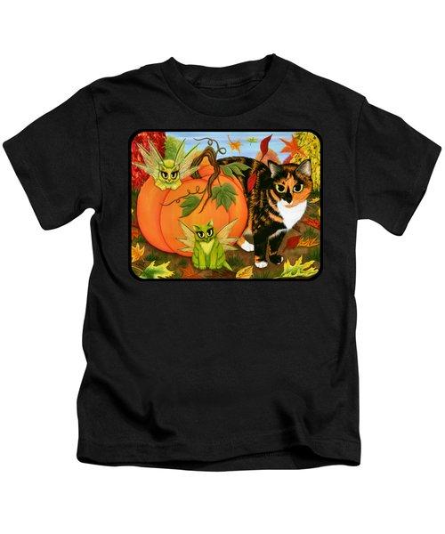 Calico's Mystical Pumpkin Kids T-Shirt