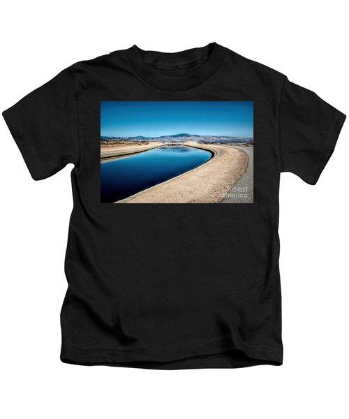 California Aqueduct At Fairmont Kids T-Shirt
