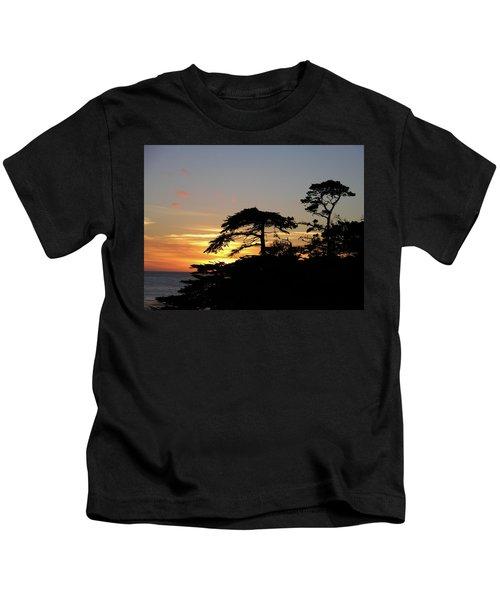 California Coastal Sunset Kids T-Shirt