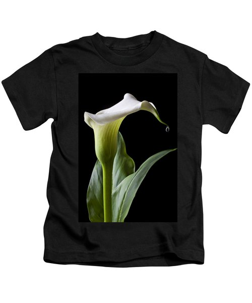 Calla Lily With Drip Kids T-Shirt