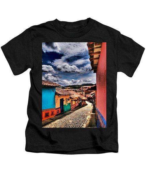 Calle De Colores Kids T-Shirt