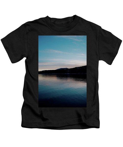 Calm Blue Lake Kids T-Shirt