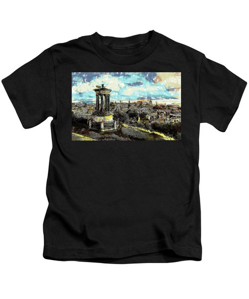 Calton Hill Edinburgh Kids T-Shirt