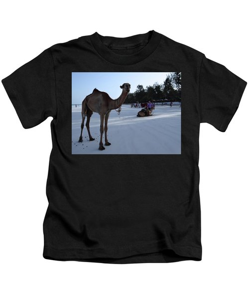 Camel On Beach Kenya Wedding 6 Kids T-Shirt