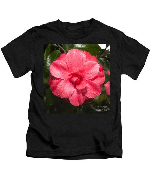 Camellia Japonica ' Mathotiana Rosea' Kids T-Shirt