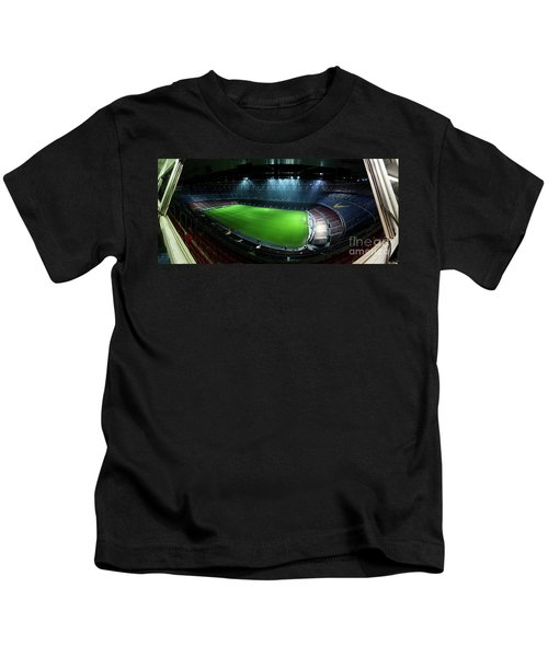 Camp Nou At Night Kids T-Shirt