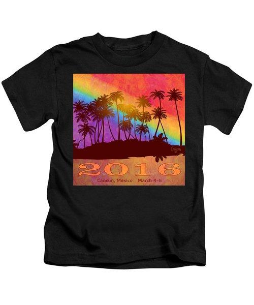 Cancun Palm Trees Gin Leadership Retreat 2016 Kids T-Shirt
