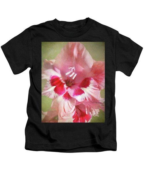 Candy Cane Gladiola Kids T-Shirt