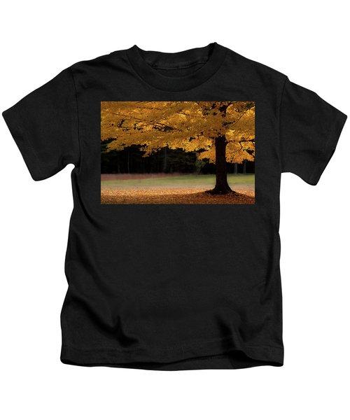 Canopy Of Autumn Gold Kids T-Shirt