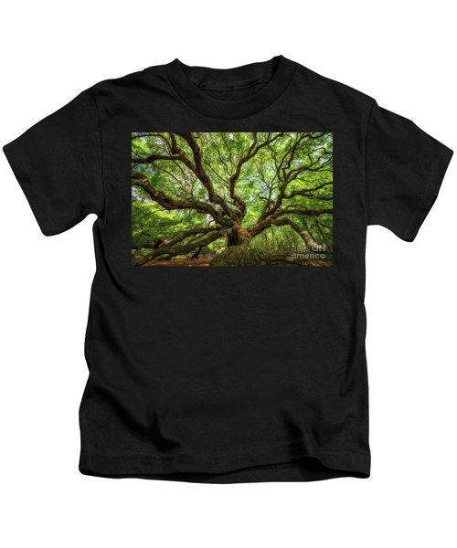 Canopy Of Color At Angel Oak Tree  Kids T-Shirt
