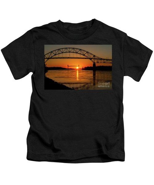 Cape Cod Canal Sunset Kids T-Shirt