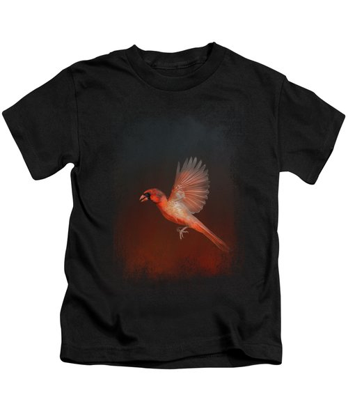 Cardinal 1 - I Wish I Could Fly Series Kids T-Shirt by Jai Johnson