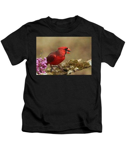 Cardinal In Spring Kids T-Shirt
