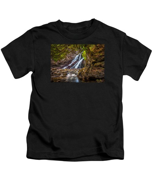 Caribou Falls In Fall Kids T-Shirt