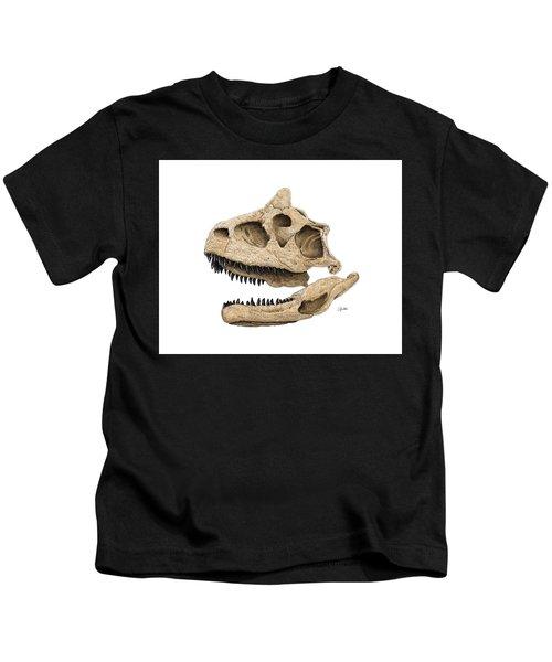 Carnotaurus Skull Kids T-Shirt