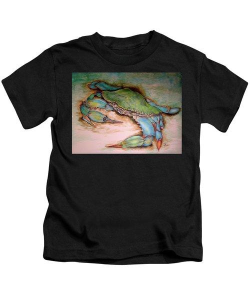 Carolina Blue Crab Kids T-Shirt