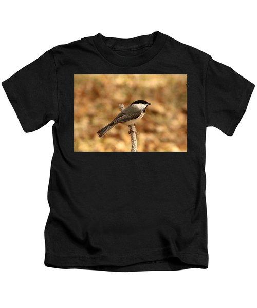 Carolina Chickadee On Branch Kids T-Shirt
