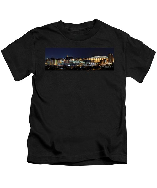 Carrier Dome And Syracuse Skyline Panoramic View Kids T-Shirt