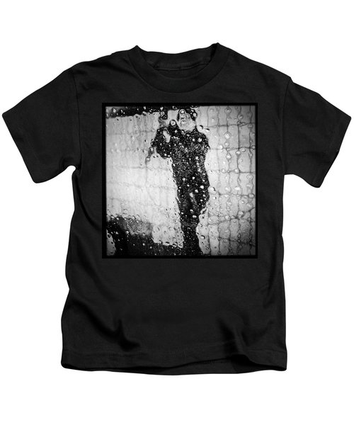 Carwash Cool Black And White Abstract Kids T-Shirt