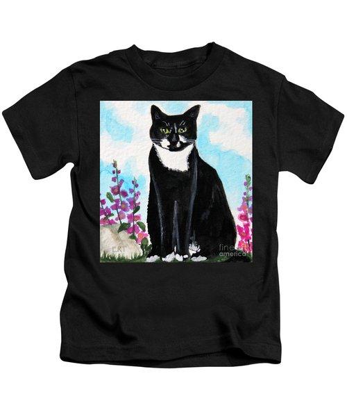 Cat In The Garden Kids T-Shirt