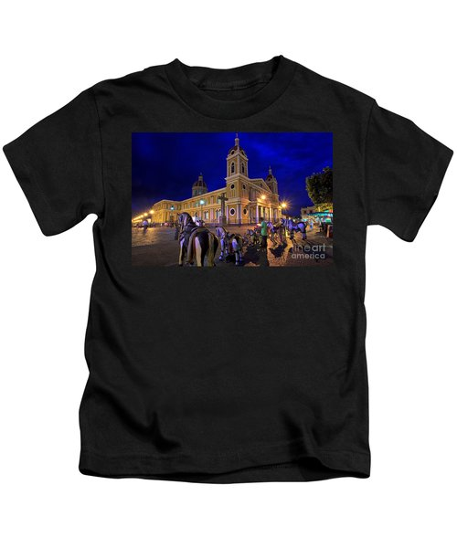 Cathedral Of Granada Shines Brightly Kids T-Shirt