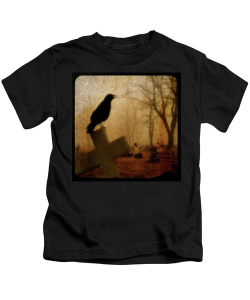 Cawing Night Crow Kids T-Shirt