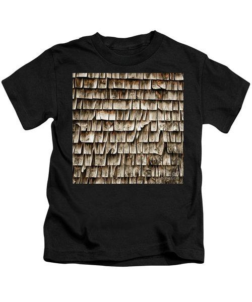 Cedar Shingles Pattern Kids T-Shirt