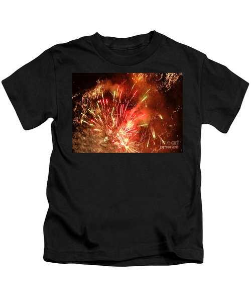 Celebratory Fireworks And Firecrackers Light Up The Sky Kids T-Shirt
