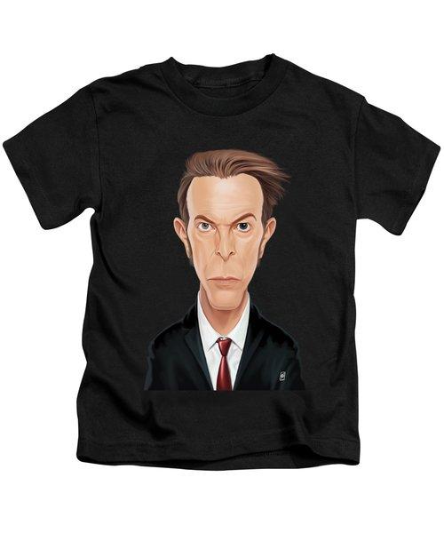 Celebrity Sunday - David Bowie Kids T-Shirt