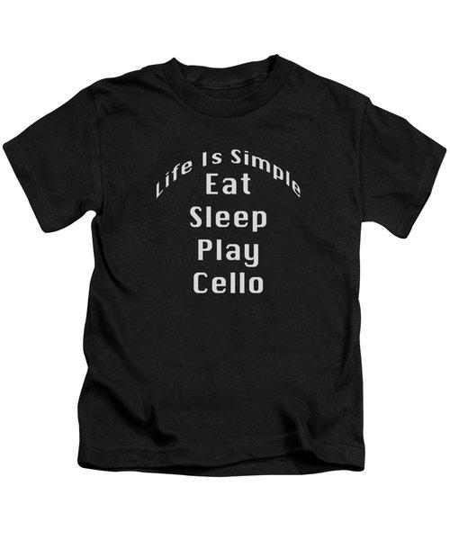 Cello Eat Sleep Play Cello 5523.02 Kids T-Shirt