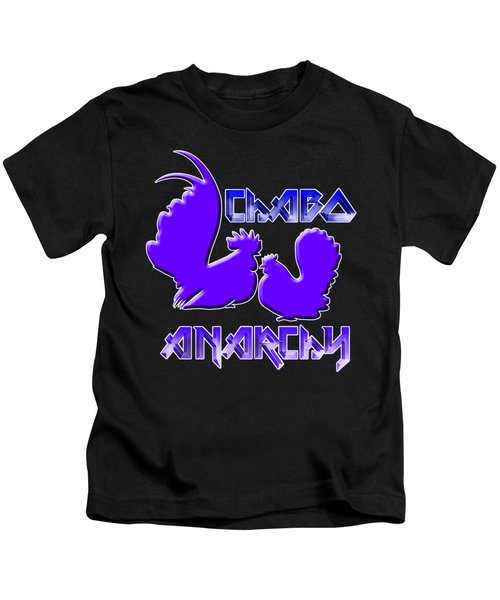 Chabo Anarchy Bluepurple Kids T-Shirt